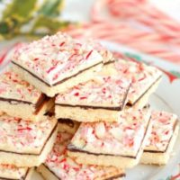Peppermint Bark Shortbread Cookies