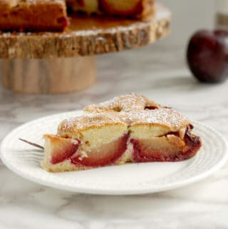 Rustic Plum Cake with Cardamom
