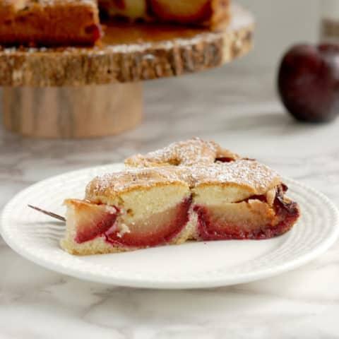 Rusitc Plum Cake with Cardamom