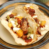 Pulled Pork Tacos with Grilled Peach Salsa