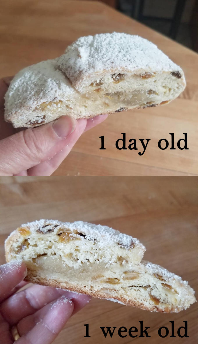 almond filled stollen after aging 1 week