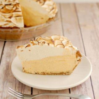 pumpkin mousse pie with meringue