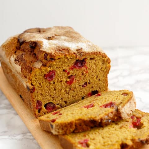 Sourdough Pumpkin Cranberry Quick Bread