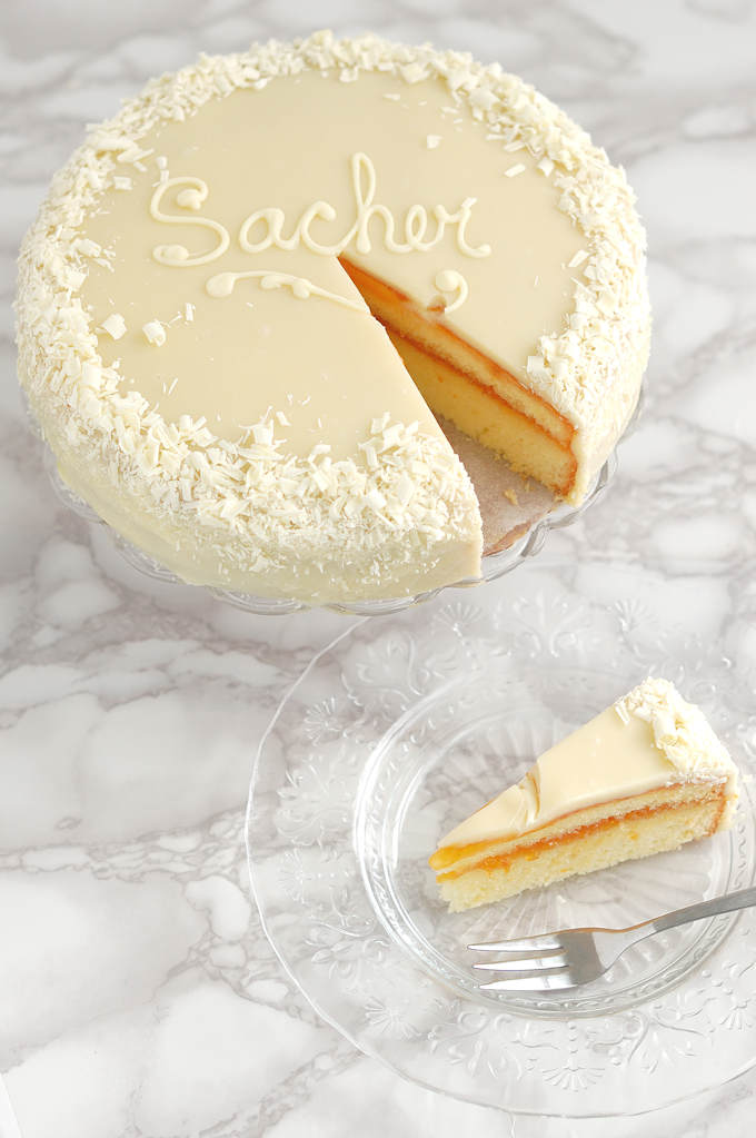 white chocolate sacher torte