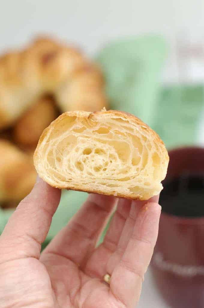 sourdough croissant with many layers