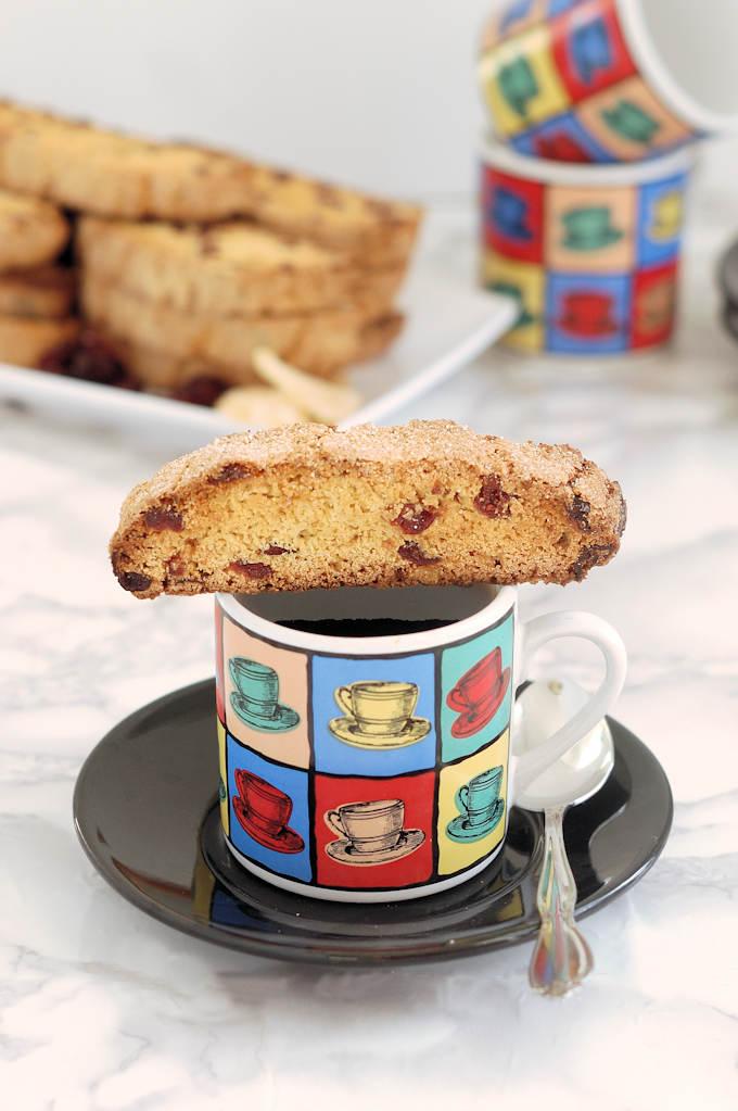 triple ginger cranberry biscotti