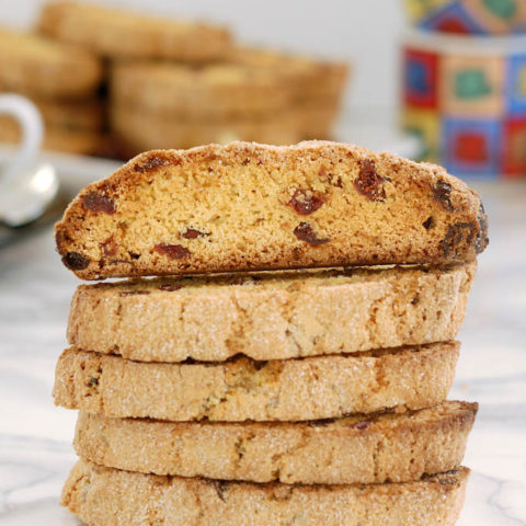 triple ginger cranberry biscotti