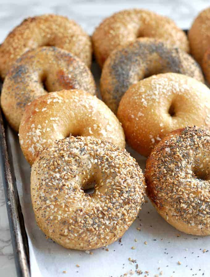 freshly baked bagels