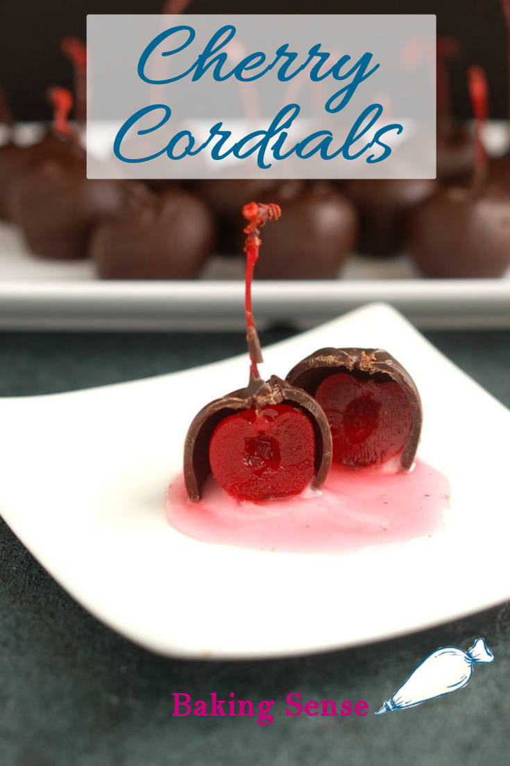 Make Cherry Cordials at home for a special treat. Real dark chocolate, Kirschwasser and cherries make a perfect Cherry Cordial with a syrupy center.  #candy #how to #video #homemade #liquor #boozy #maraschino #real #classic