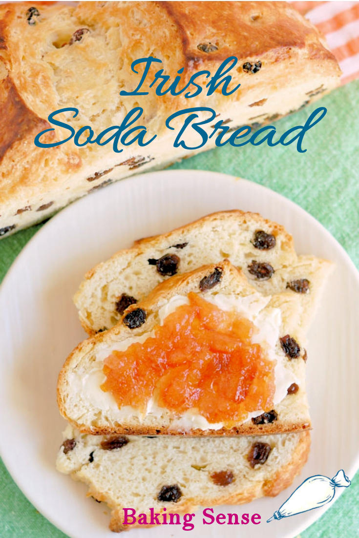 Would it be St. Patrick's day without Irish Soda Bread? Not in my house! Put on the kettle and enjoy a slice of this buttermilk-enriched, raisin-filled bread with a hot cup of tea.