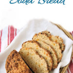 a pinterest image for oatmeal soda bread with text overlay