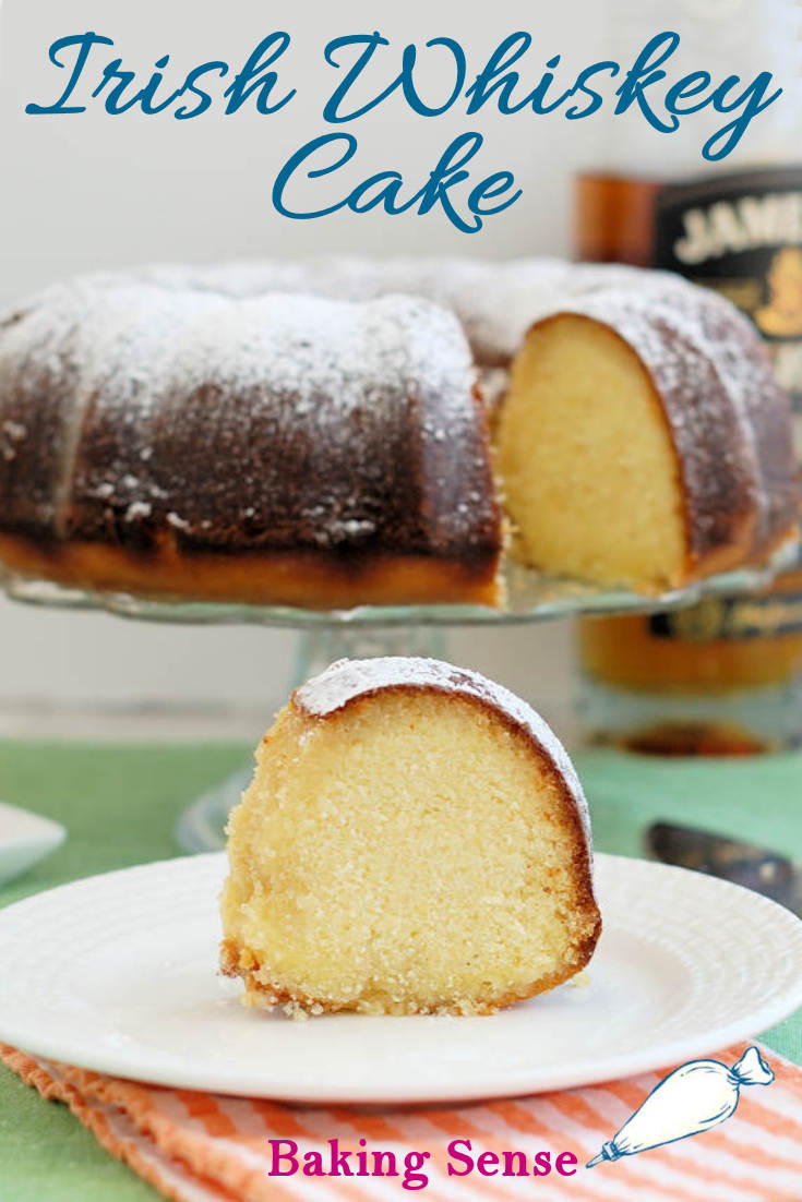 You are meant to taste the whiskey in this cake! It's not just an accent flavor, it's the star of the show. The glaze on this cake is not shy with the liquor, so you get honey-kissed, whiskey flavor in every bite. #st patricks #easy #best #homemade #scratch #recipe #jameson #glazed #boozy #stpatty
