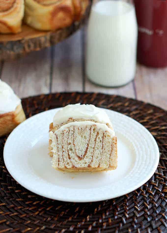 Sourdough Cinnamon Bun with cream cheese icing
