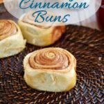 a pinterest image for sourdough cinnamon buns