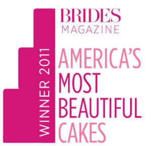A graphic from Bride's magazine for 2011 most beautiful wedding cakes