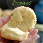 a pinterest image for irish cheddar scones recipe