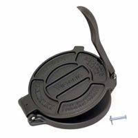"Victoria TOR-003 Cast Iron Tortilla Press, 8"", Black"