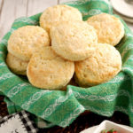 a basket of shortcake biscuits