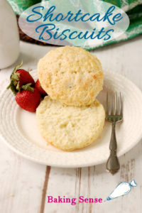 a shortcake biscuit pinterest image with text overlay