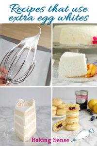 a pinterest image for recipes that use egg whites