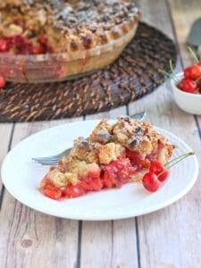 Sour Cherry Crumb Pie