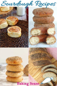 a pinterest image for sourdough recipes