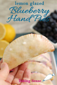 a pinterest image for blueberry hand pies