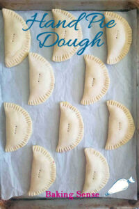a pinterest image for hand pie dough