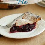 a pinterest image for concord grape pie