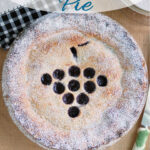 an image for pinterest for concord grape pie recipe