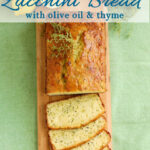 a pinterest image for lemon zucchini bread