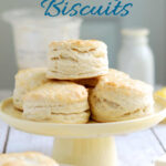 a pinterest image for sourdough biscuit recipe