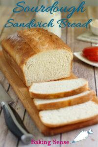 a pinterest image for sourdough sandwich bread