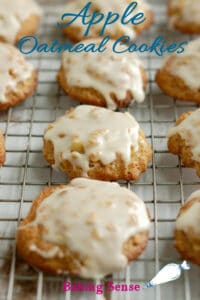 an image of apple oatmeal cookies for pinterest