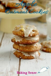 a image of apple oatmeal cookies for pinterest