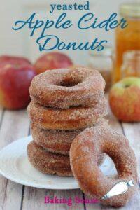 a pinterest image for cider donut recipe