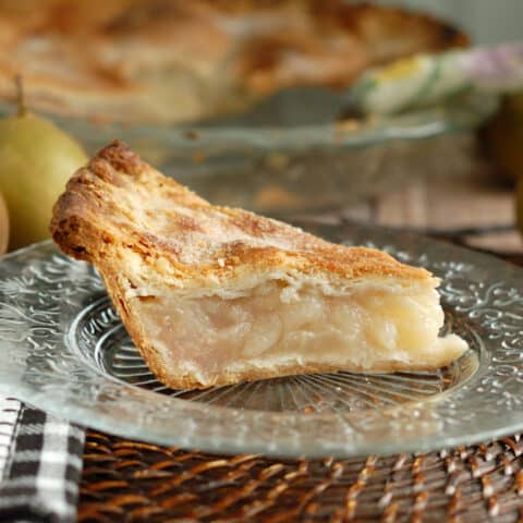 Vanilla Pear Pie