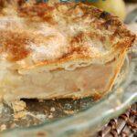 a pinterest image for sourdough pie crust recipe