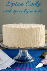 a pinterest image for spice cake