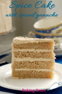 a pinterest image for spice cake recipe