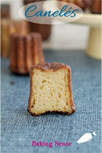 a pinterest image for caneles recipe