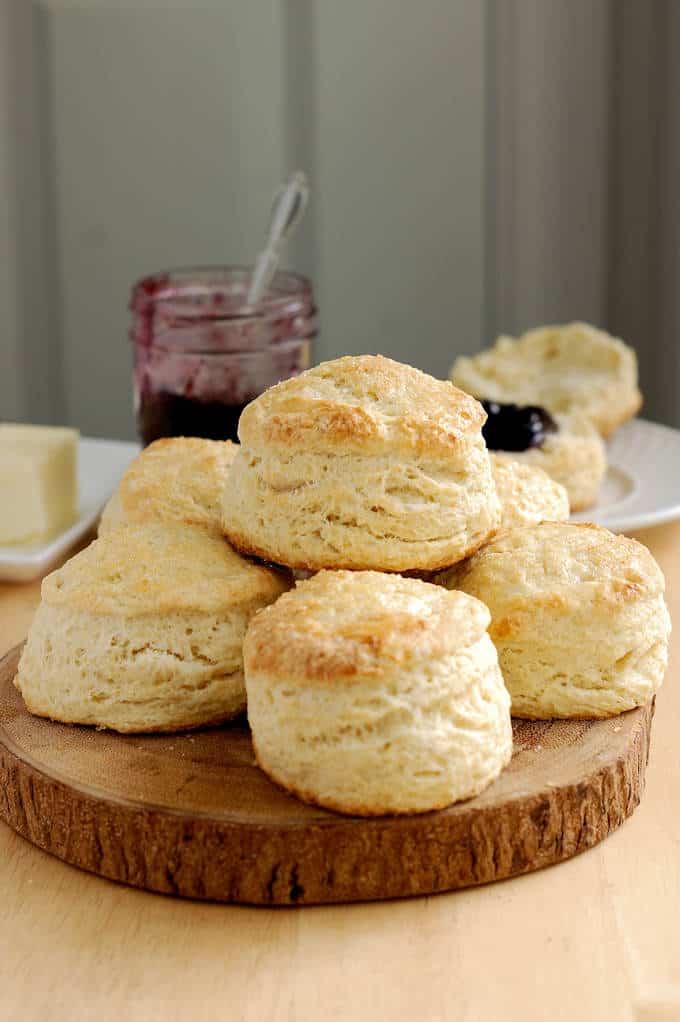 a tray of sourdough scones