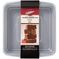 Wilton Non-Stick Square Brownie Baking Pan with Lid
