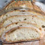 a pinterest image for artisan sourdough bread