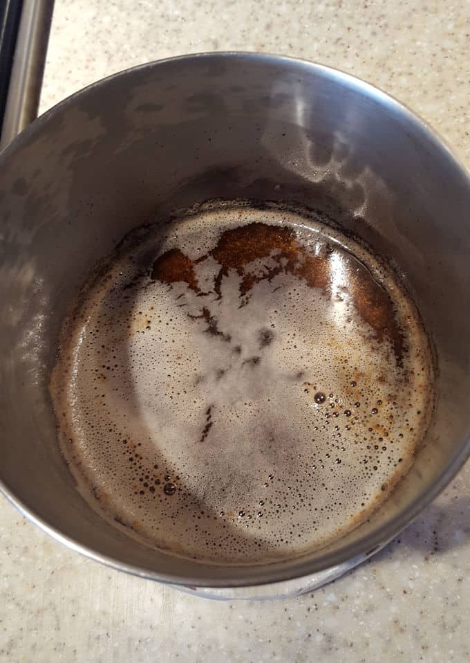 a pot of browned butter