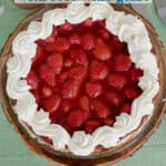 a pinterest image for a fresh strawberry pie recipe