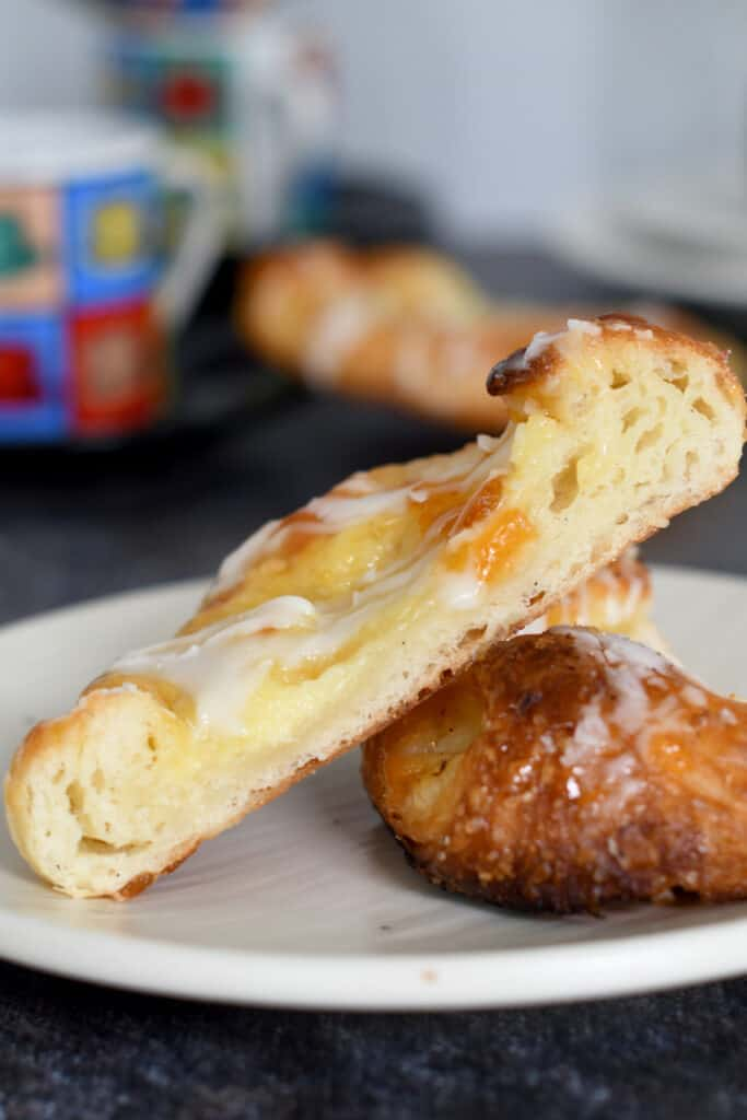 showing a cross section of a cheese danish
