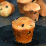 a pinterest image for baba au rhum with text overlay
