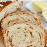 an image of dutch sugar bread with text overlay for pinterest