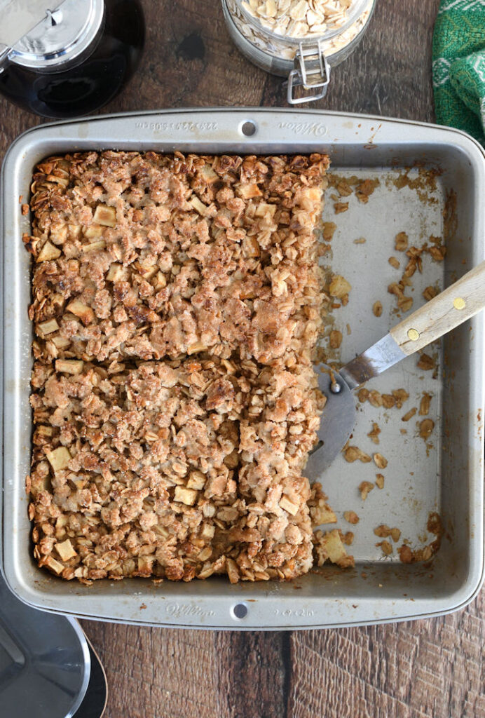 a pan of baked oatmeal
